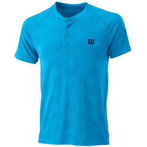 Wilson Men's Power Seamless Henley - Coastal Blue