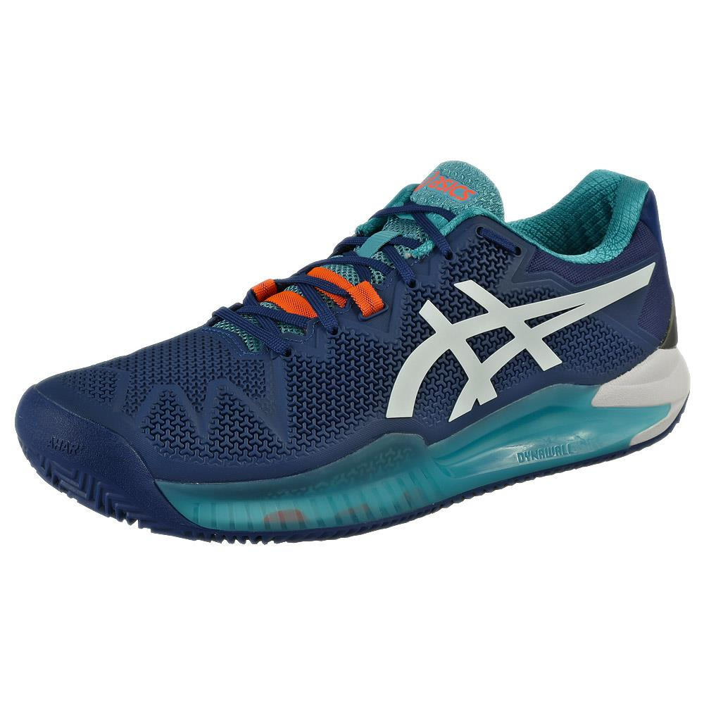Asics Men's Gel-Resolution 8 - Clay - Mako Blue/White