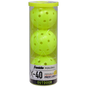 Franklin Pickleball X-40 Outdoor 3 Pack - Optic Yellow