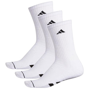adidas Cushioned Crew 3 Pack Socks - White/Black