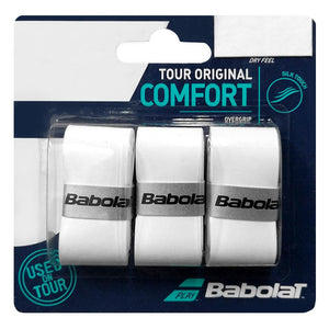 Babolat Tour Original Overgrip - 3 Pack - White