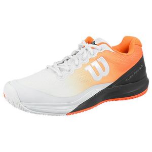 Wilson Men's Rush Pro 3.0 - Paris - White/ Shocking Orange
