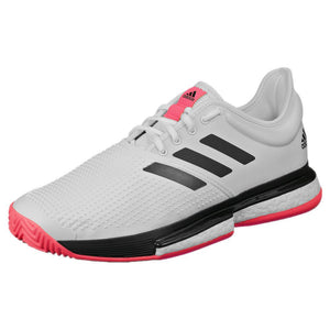 adidas Men's SoleCourt Boost - Cloud White/Signal Pink