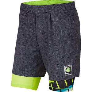 "Nike Men's Flex Ace 9"" Short - Black/Hot Lime"