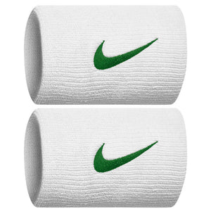 Nike Premier Doublewide Wristbands - White/Lucid Green