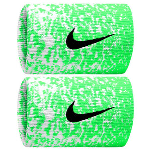 Nike Premier Doublewide US Open Wristbands - Green Strike/Black