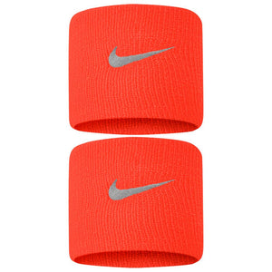 Nike Swoosh Premier DriFit Wristbands - Habanero Red/Dark Grey