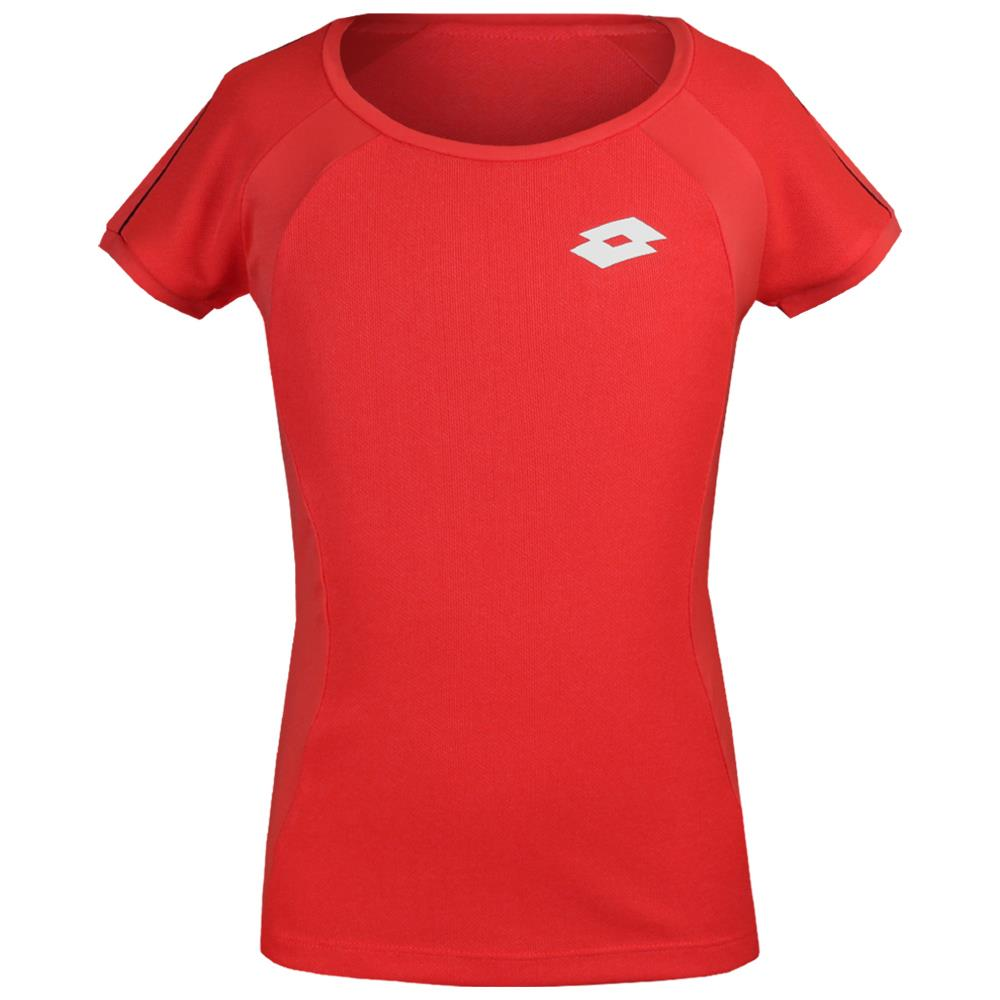 Lotto Girls Team Tee - Red Fluo ?id=16478731436122