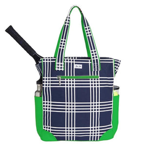 Ame & Lulu Emerson Parker Plaid Tote - Navy/Green