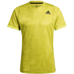 adidas Men's Primeblue Freelift Tee - Acid Yellow