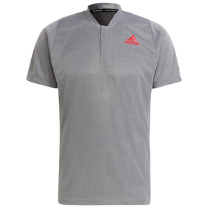 adidas Men's Primeblue Freelift Polo - Silver