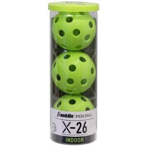 Franklin Pickleball X-26 Indoor 3 Pack - Lime Green