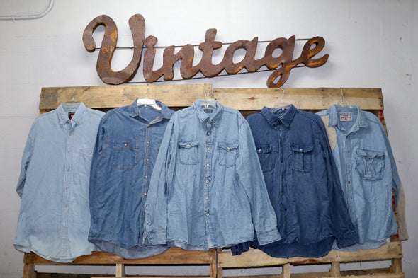 Denim Shirts - Thrift Vintage Fashion