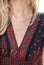Load image into Gallery viewer, Chelsea Polka Dots Red - Chiffon