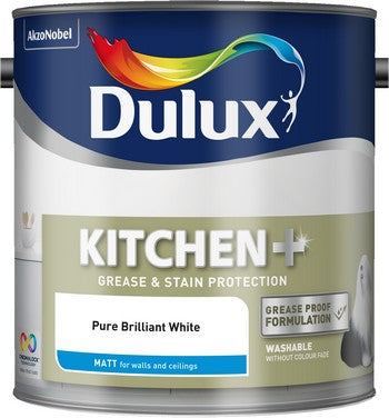 Dulux Kitchen Matt Pure Brilliant White 2.5L