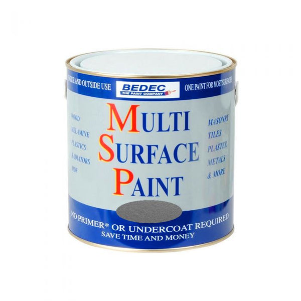 Bedec Multi Surface Paint Silver 250ml