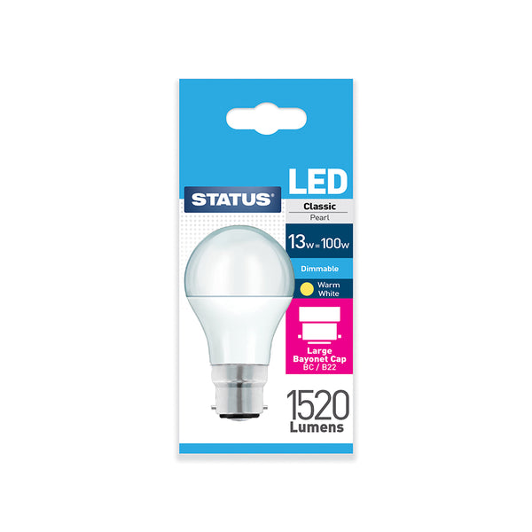 Status LED GLS BC 13W Dimmable
