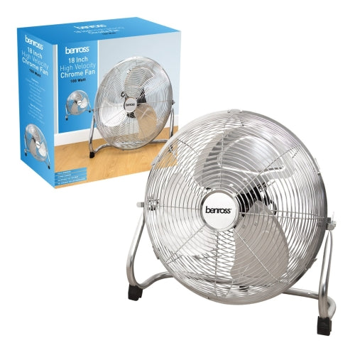 "Benross 18"" High Velocity Chrome Fan"