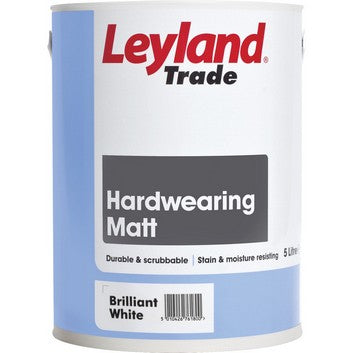 Leyland Hardwearing Matt Brilliant White