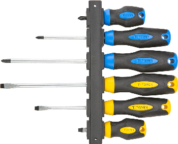 Screwdriver set 6pcs + hanger