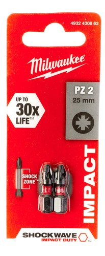 Screwdriver Bits PZ2 25mm 2pcs
