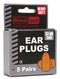 Prodec Foam Ear Plugs 5 Pair