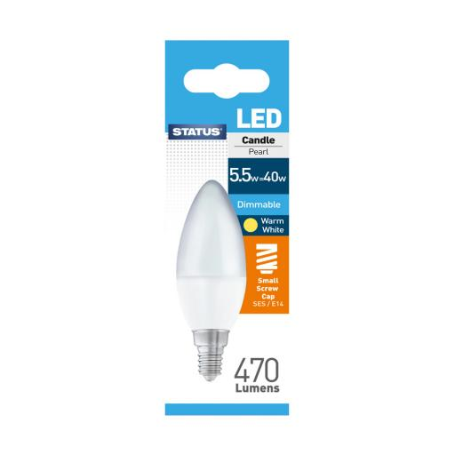 Status LED Candle SES 5.5W Dimmable
