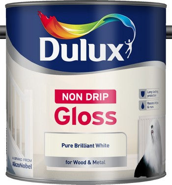 Dulux Pure Brilliant White Non Drip Gloss
