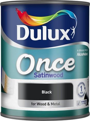 Dulux Once Satinwood Black 750 ml