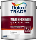 Dulux Trade Weathershield Quick Dry Exterior Gloss Pure Brilliant White 2.5