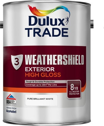 Dulux Trade Weathershield Gloss Pure Brilliant White