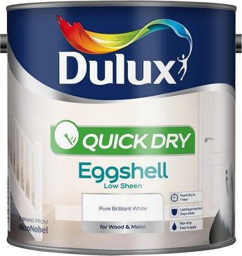Dulux Quick Dry Pure Brilliant White Eggshell