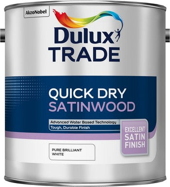 Dulux Trade Qick Dry Satinwood Pure Brilliant Wood