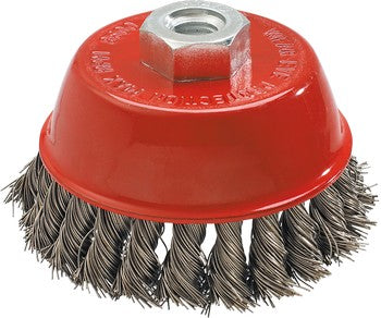 Bowl cup brush, twisted stainless steel wire 0.5 mm