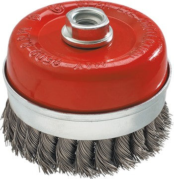 Cup brush, twisted stainless steel wire 0.50mm