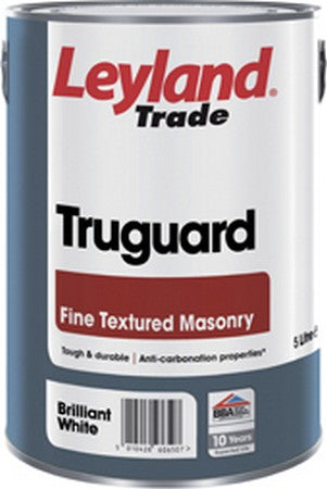 Leyland Truguard Fine Textured Brilliant White 5L
