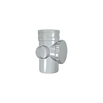 Solvent Soil Access Pipe 100mm Grey