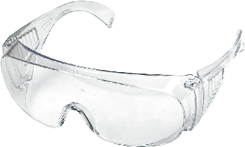 Protection goggles, white, CE