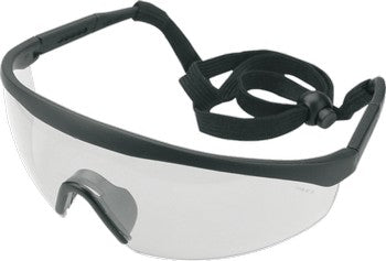 Safety goggles, white, various ear ram