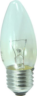 CLEAR CANDLES ROUGH SERVICE EDISON SCREW 220-240V