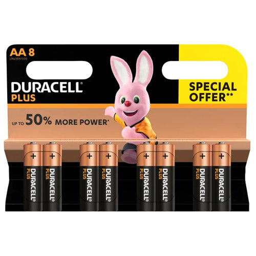 Duracell Plus Power Batteries AA Pack Of 8