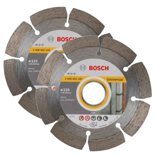 Bosch Diamond Blade Twin Pack 115mm 22.23mm