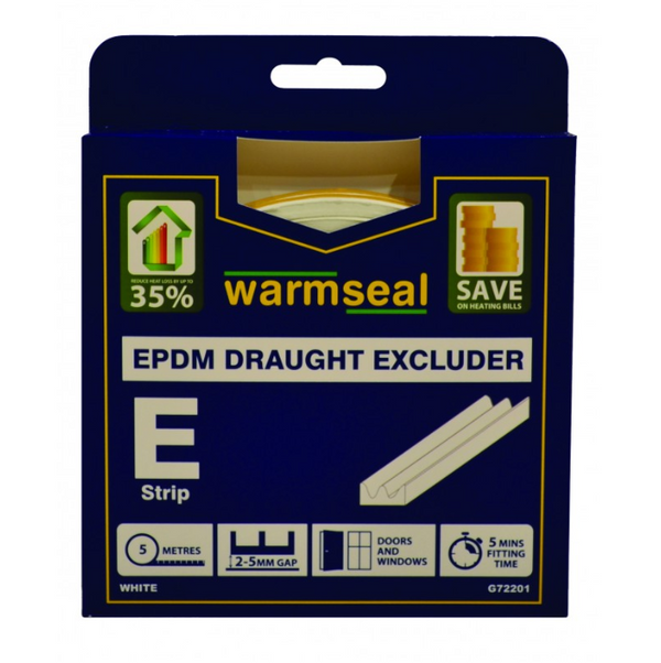 E Profile Foam Draught Excluder 5m