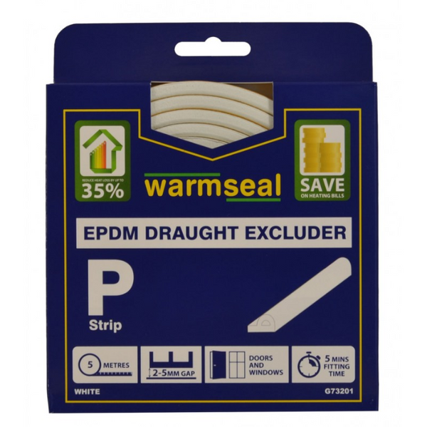 P Profile Foam Draught Excluder 5m