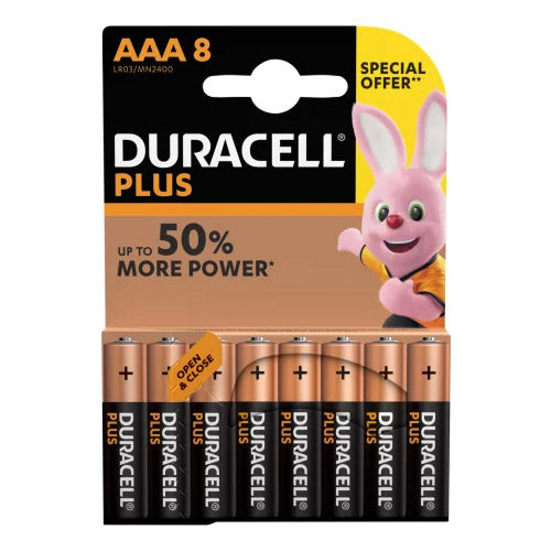 Duracell Plus Power Batteries AAA Pack Of 8