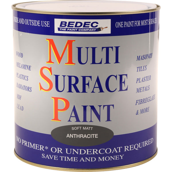 Bedec Multi Surface Paint Anthracite 750ml