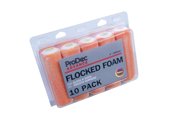 "Prodec Flock Foam Mini Rollers  4"" 10 pk"