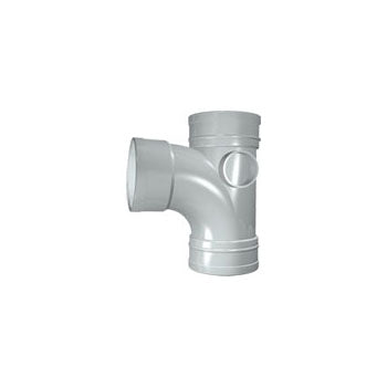 Solvent Soil 92° Triple Socket Branch 100mm Grey