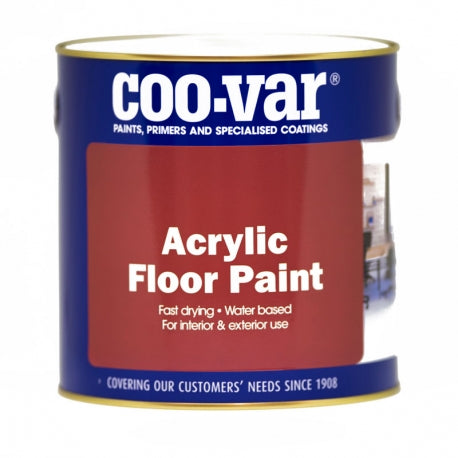 Coo-Var Acrylic Floor Paint White 1L