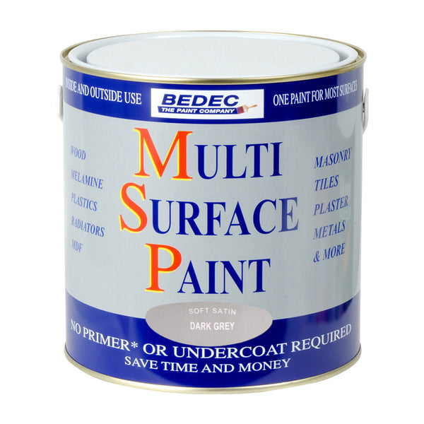 Bedec Multi Surface Paint Dark Grey 750ml